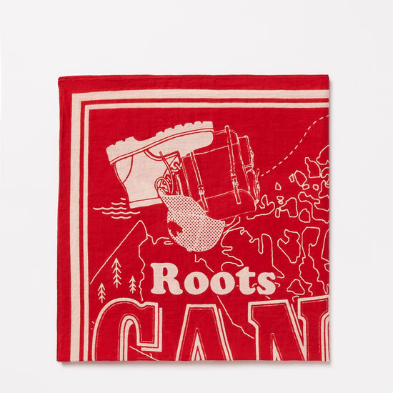 Roots-Sale Women's-Belleville Bandana-Sage Red-A