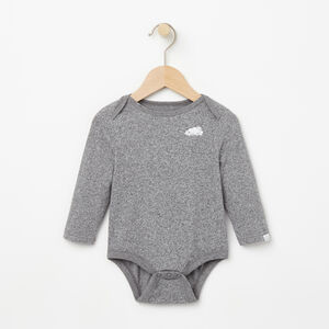 Roots-Kids New Arrivals-Baby's First Roots Onesie-Salt & Pepper-A