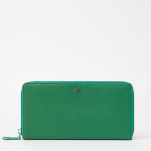 Roots-Sale Leather-Zip Around Wallet Bridle-Emerald-A