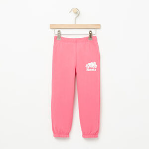 Roots-Kids Bottoms-Toddler Slim Roots Sweatpant-Pink Flambé-A