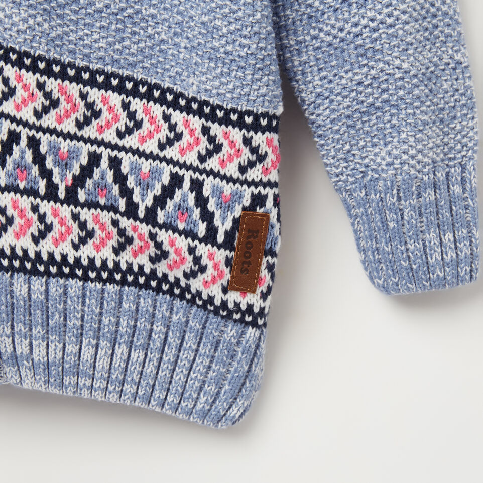 Toddler Fair Isle Hooded Sweater | Roots