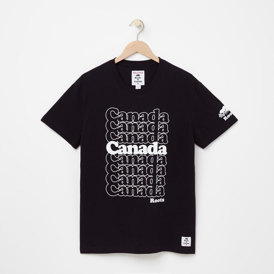 Roots-undefined-T-Shirt Empilé Canada Homme-undefined-A