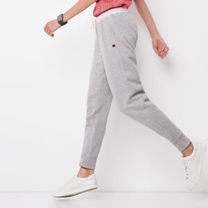 Roots-Women Slim Sweatpants-Fawn Pant-Grey Mix-A