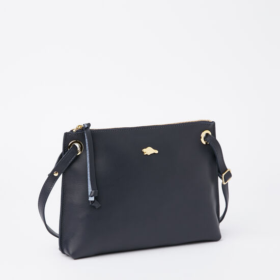 Roots-Women Bestsellers-Edie Bag Bridle-Navy-A