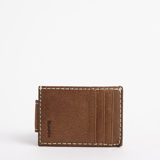 Roots-Leather Men's Wallets-Mens Money Clip Card Holder Tribe-Africa-A