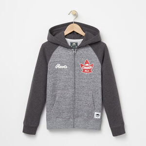 Roots-Kids Canada Collection-Boys Heritage Canada Full Zip Hoody-Salt & Pepper-A