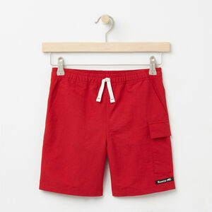 Roots-Kids Bottoms-Boys Nylon Camp Shorts-Sage Red-A