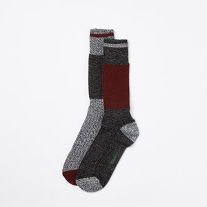 Roots-Men The Roots Cabin Collection™-Mens Log Cabin Sock 2 Pack-Crimson-A