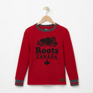 Roots-Kids Boys-Boys Roots Cabin Waffle Top-Lodge Red-A