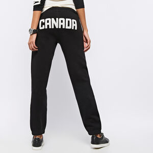 Roots-Women Bottoms-Heritage Canada Original Sweatpant-Black-A