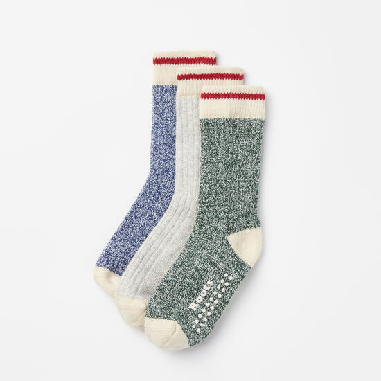 Roots-Kids Accessories-Toddler Cabin Sock 3 Pack-Blue Depths-A