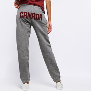 Roots-Women Bottoms-Heritage Canada Original Sweatpant-Salt & Pepper-A