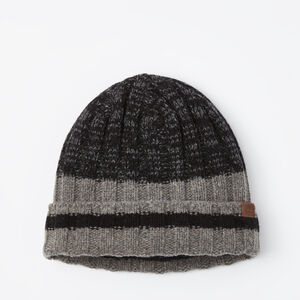 Roots-Men Hats-Liam Rib Toque-Black Mix-A
