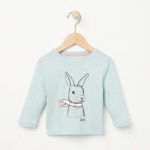 Roots-Kids Baby-Baby Woodland Critters T-shirt-Hushed Blue-A