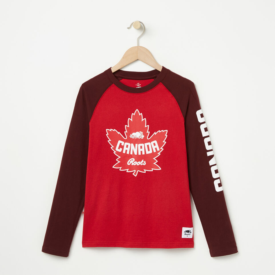 Roots-undefined-Boys Heritage Canada Long Sleeve T-shirt-undefined-A