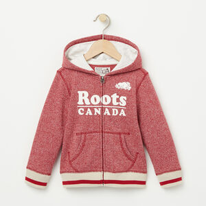 Roots-Kids Toddler Girls-Toddler Roots Cabin Full Zip Hoody-Lodge Red Pepper-A