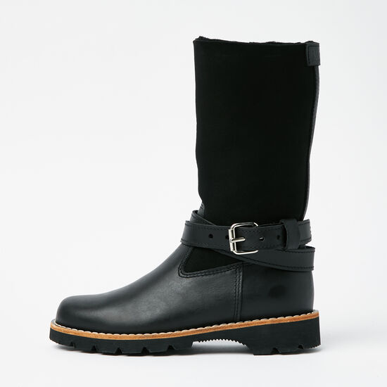 Roots-Shoes Women's Shoes-Western Sheepskin Warrior-Black-A