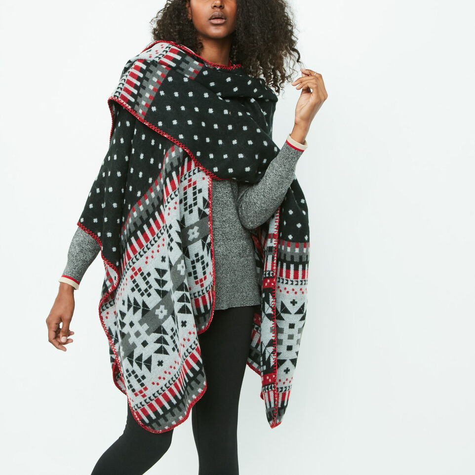 Roots-undefined-Jocelyn Blanket Wrap-undefined-D