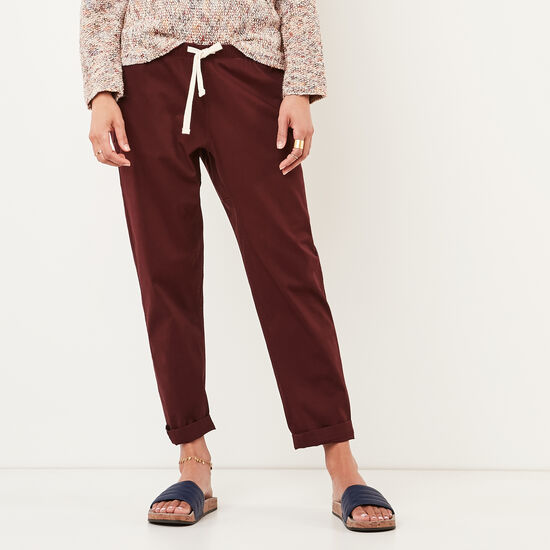 Roots-Women Features-Woodland Jogger-Crimson-A