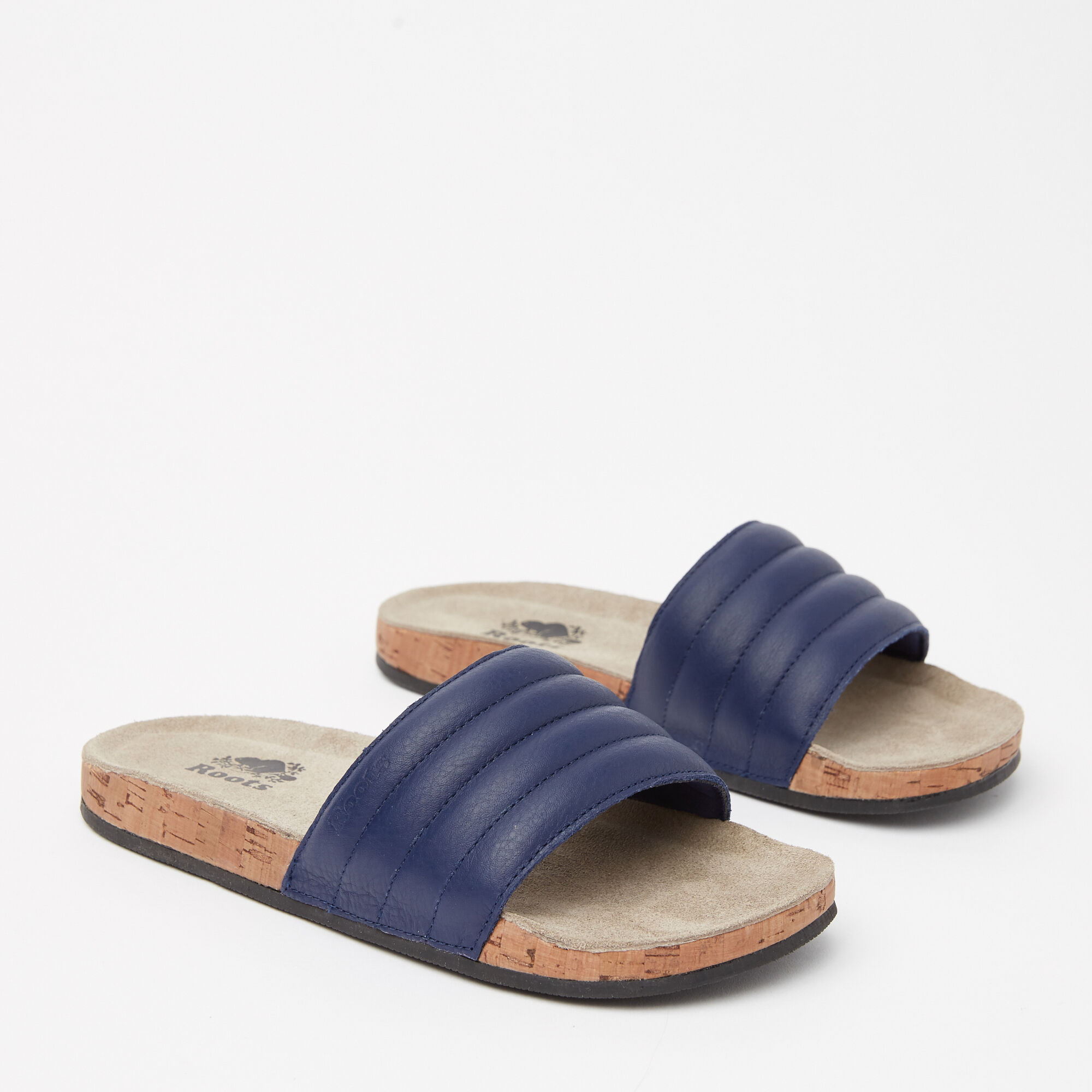 Womens Roots Slide Leather