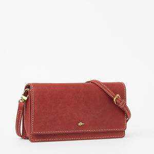 Roots-Leather Mini Leather Handbags-Evening Wallet Bag Tribe-Paprika-A