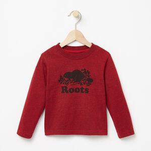 Roots-Kids T-shirts-Toddler Cooper Beaver T-shirt-Lodge Red Pepper-A