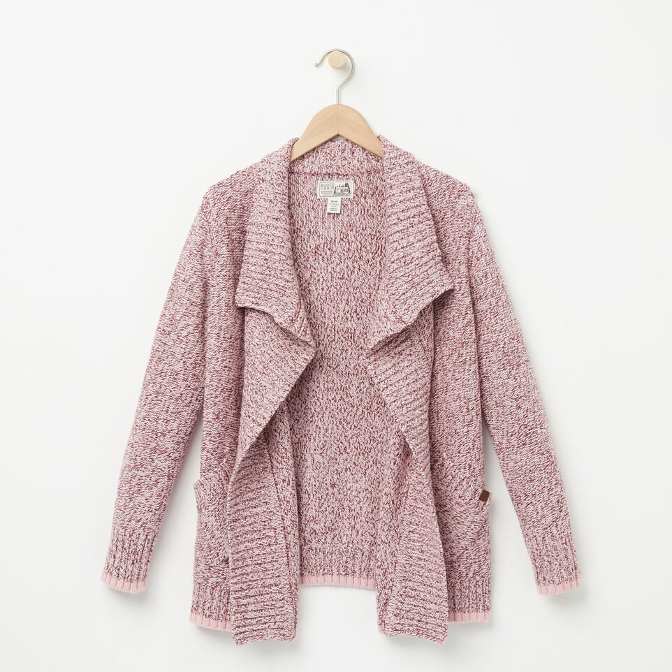 Roots-undefined-Girls Roots Cabin Waterfall Cardigan-undefined-A