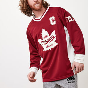 Roots-Men Canada Collection By Roots™-Unisex Roots Heritage Jersey-Vintage Red-A