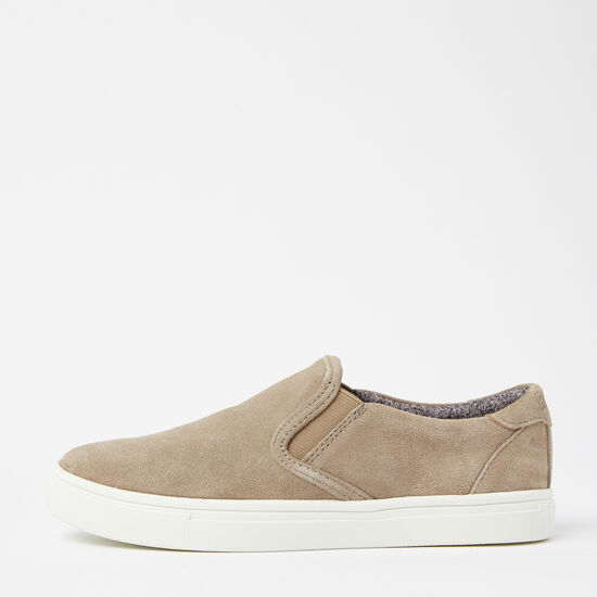 Roots-Shoes Shoes-Womens Slip On Sneaker Suede-Earth-A