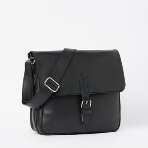 Roots-Leather Briefcases & Messengers-Air One Bag Box-Black-A