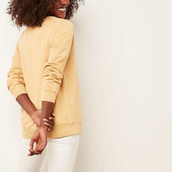 Roots-Women Tops-Beaumont Terry Tunic-Old Gold-A