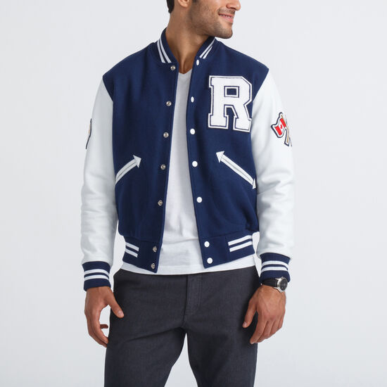 Roots-Men Award Jackets-Mens Award Jacket-Navy-A