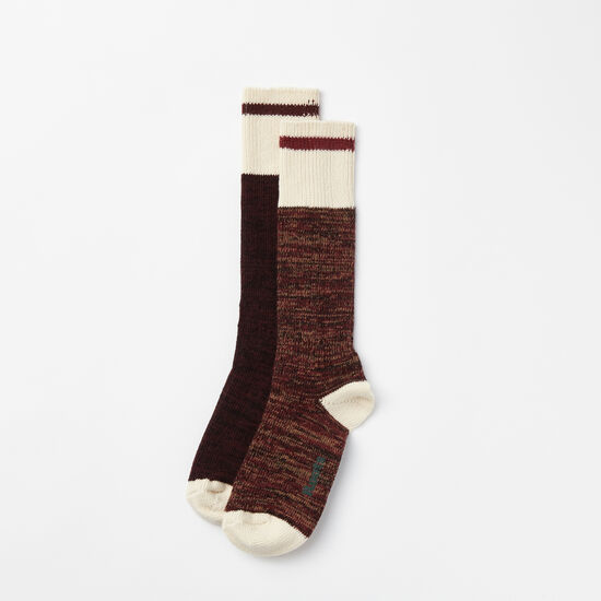 Roots-Women Features-Womens Park Sock 2 Pack-Crimson-A
