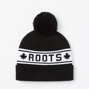 Roots-Men Hats-Heritage Pom Pom Toque-Black-A