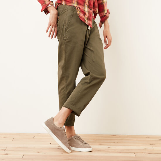 Roots-Women Pants-Woodland Jogger-Sea Turtle-A