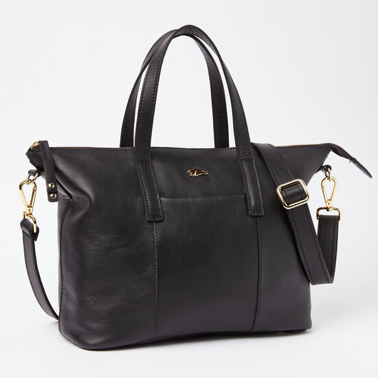 Roots-Women Totes-Zoe Bag Box-Black-A