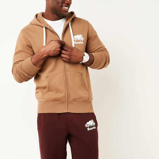 Roots-Men Tops-Original Full Zip Hoody-Calfskin Tan-A