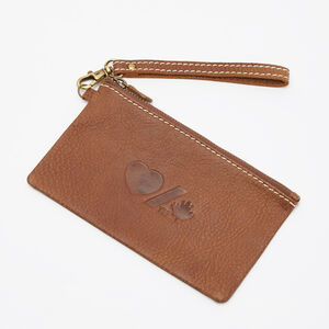 Roots-Women Leather Accessories-Heart & Stroke Zip Pouch Tribe-Africa-A