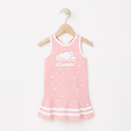Roots-Kids Tops-Baby Cooper Canada Tank Dress-Peony Pink-A