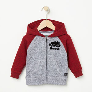 Roots-Kids Tops-Baby Contrast Full Zip Hoody-Lodge Red Pepper-A