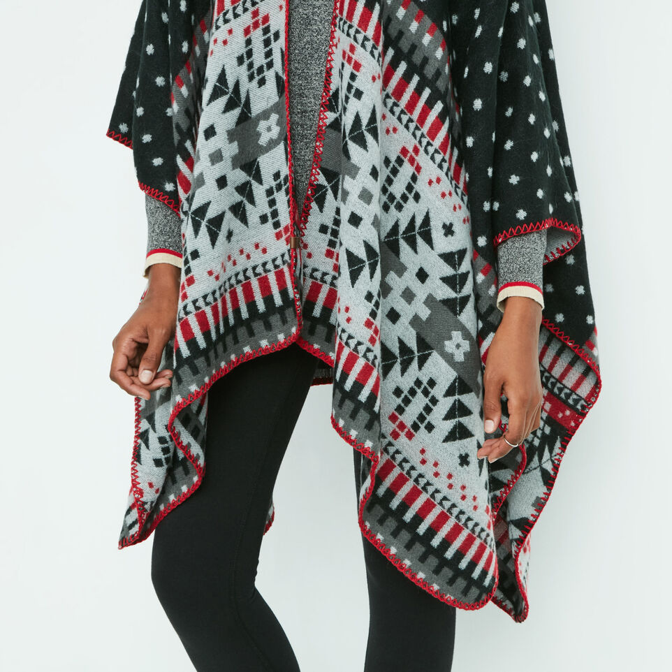 Roots-undefined-Jocelyn Blanket Wrap-undefined-E