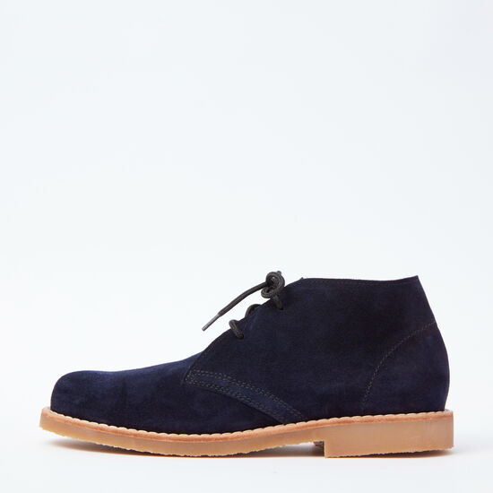 Roots-Shoes Boots-Mens Chukka Boot Suede-Navy-A