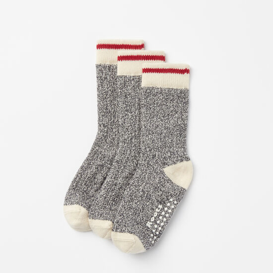 Roots-Kids Accessories-Toddler Classic Cabin Sock 3 Pack-Salt & Pepper-A