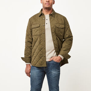 Roots-Men Jackets-Lockport Quilted Shacket-Ivy Green-A