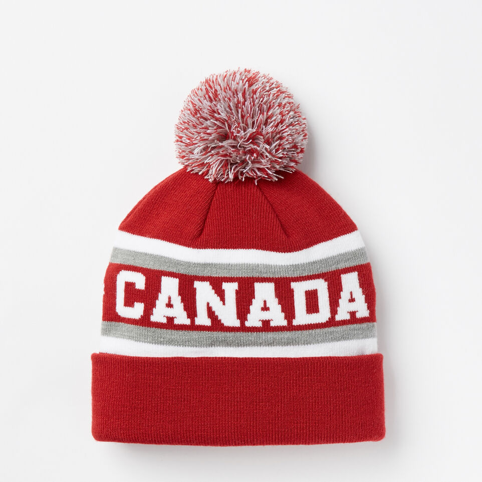 Roots-undefined-Kids Heritage Pom Pom Toque-undefined-C