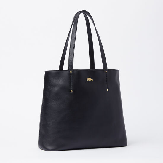 Roots-Women Totes-Downtown Tote Box-Black-A