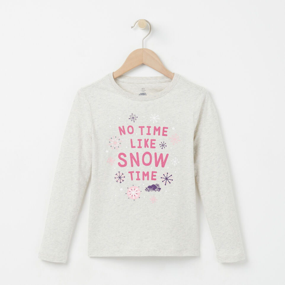 Roots-undefined-Girls Snow Time T-shirt-undefined-A
