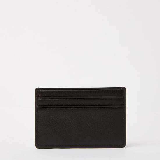 Roots-Women Wallets-Business Card Holder-Black-A