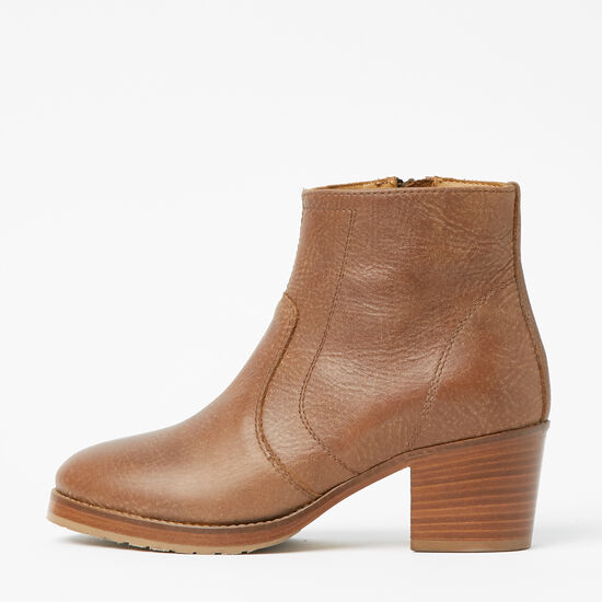 Roots-Shoes Women's Shoes-Italian Zip Bootie Tribe-Africa-A