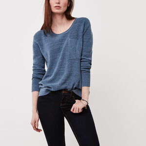Roots-Women Tops-North Twin Sweater-Flint Stone Mix-A